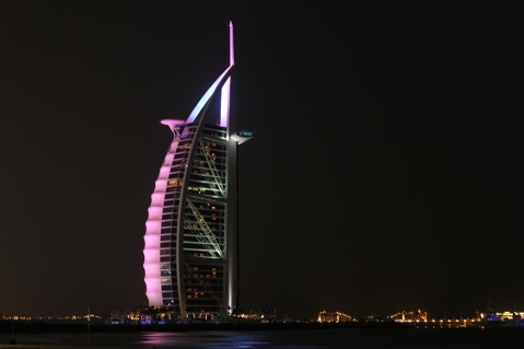 The Burj Al Arab, a seven star hotel