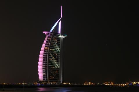 The Burj Al Arab, a seven star hotel